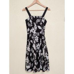 Spenser Jeremy Black and White Floral Strap Dress